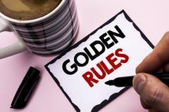 Regras de ouro da escrita do texto da escrita Os princípios regulamentares do significado do conceito retiram o núcleo do plano N foto de stock
