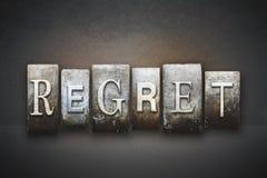 Regret Letterpress Stock Image