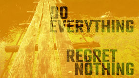 Regret nothing bridge Stock Photo