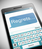 Regrets message concept. Royalty Free Stock Image
