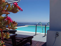 Regroupement dans Santorini Photos stock