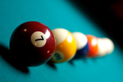 Regroupement de billards Images libres de droits