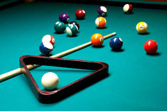 Regroupement de billards Photo libre de droits