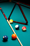 Regroupement de billards Photos libres de droits