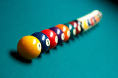 Regroupement de billards Images stock