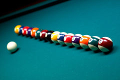 Regroupement de billards Photographie stock