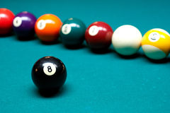 Regroupement de billards Image stock