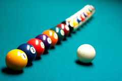 Regroupement de billards Photos stock