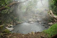 Regroupement de source thermale - Rincon de la Vieja, Costa Rica Photo libre de droits