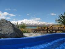 Regroupements chauds de Tekapo de lac Photographie stock