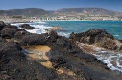 Regroupements de marée sur la côte Photo stock