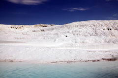 Regroupements de travertin chez Pamukkale photos stock