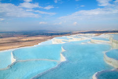 Regroupements de travertin de Pamukkale Image libre de droits