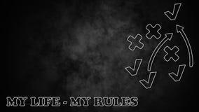 Reguły mój życie Obraz Royalty Free