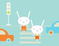 reguły ruch drogowy ilustracja wektor