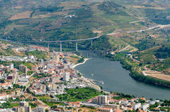 Regua, vineyars in Douro Valley Stock Photos