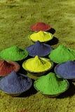Reguera colorida para el conejito bunches-3 de Holi imagen de archivo