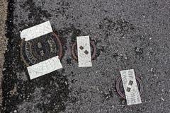 Regueras selladas del piso Imagen de archivo