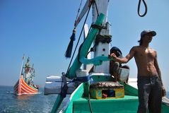 Regulación de Indonesia Maritimes Imágenes de archivo libres de regalías