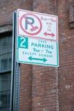 Regulación de la limpieza de la calle en New York City Fotos de archivo