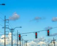 Regulación de tráfico en América Foto de archivo libre de regalías