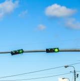 Regulación de tráfico en América Fotografía de archivo libre de regalías