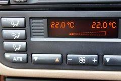 Regulación del acondicionador de aire del coche Foto de archivo