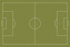 Regulación del campo de fútbol del campo de fútbol Fotografía de archivo libre de regalías