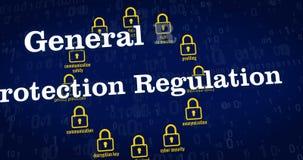 Regulación general de la protección de datos ilustración del vector