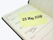 Regulación general GDPR de la protección de datos - 25 de mayo de 2018 Imágenes de archivo libres de regalías