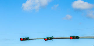 Regulación de tráfico en América Imagen de archivo