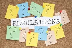 regulaciones imagen de archivo