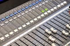 Regulador audio Fotografía de archivo libre de regalías