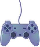 Regulador azul del videojuego imagen de archivo libre de regalías