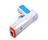 Regulador blanco del arma del juego video en blanco Fotografía de archivo libre de regalías