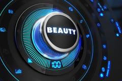 Regulador de la belleza en la consola de control negra Fotos de archivo