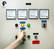 Control y monitor de la electricidad Imagen de archivo libre de regalías