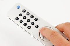Regulador de plata del telecontrol TV Imagen de archivo libre de regalías