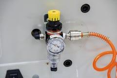 Regulador de presión de aire imágenes de archivo libres de regalías