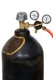 Regulador de presión de gas con el manomete Imagenes de archivo