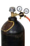 Regulador de presión de gas con el manomete Foto de archivo libre de regalías