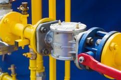 Regulador de pressão do gás Foto de Stock Royalty Free