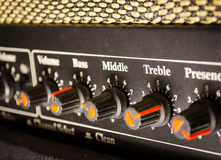 Regulador del amplificador Imagen de archivo libre de regalías