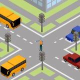 Regulador del camino del tráfico Ilustración del Vector