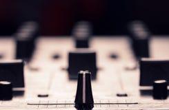 Regulador del mezclador de sonidos Fotografía de archivo