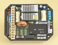 Regulador do AVR do gerador Foto de Stock Royalty Free
