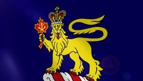Regulador-geral da animação realística da bandeira de Canadá ilustração royalty free
