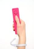 Regulador rosado del juego video Imagen de archivo libre de regalías