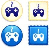 Regulador Stamp y botón Fotografía de archivo libre de regalías