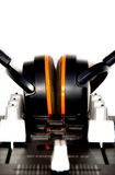 Regulador y auriculares de DJ imagen de archivo libre de regalías